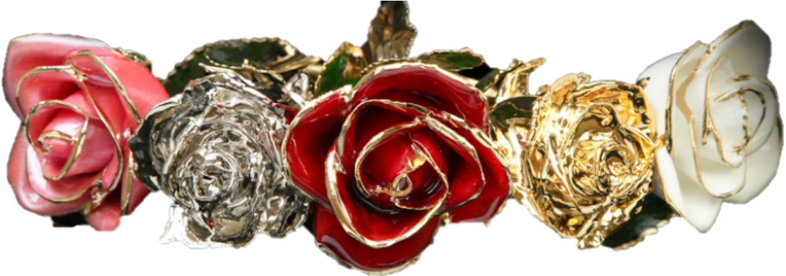 Affordable Luxury Gold & Platinum Roses